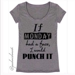If MONDAY had a face ... Graphic Tee NWT